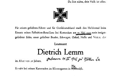 FRIEDRICH LAMM OF DIEDRICH LEMM: WHAT'S IN A NAME?