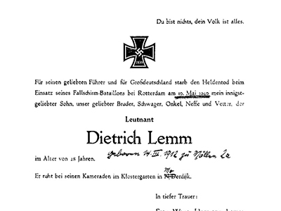 FRIEDRICH LAMM OF DIEDRICH LEMM: WHAT'S IN A NAME?