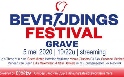 Streaming Bevrijdingsfestival Grave op 5 mei